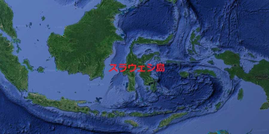 スラウェシ島の地図